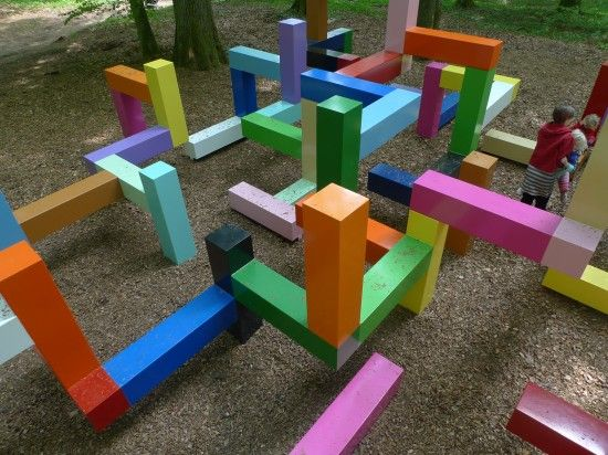 Primary Structure, Wanås Sculpture Park, Sweden by Jacob Dahlgren The sculpture looks like it is made of oversized toy building blocks, although some parts defy gravity as they hover over the ground....