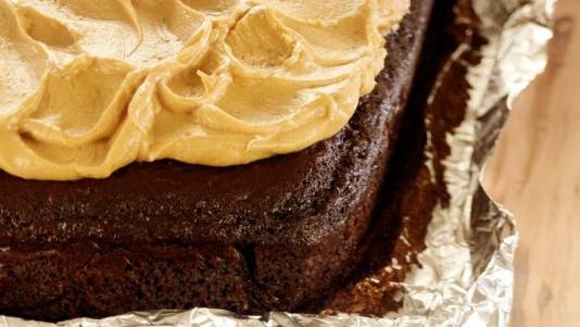 Chocolate Cake with Peanut Butter Frosting | Recipe