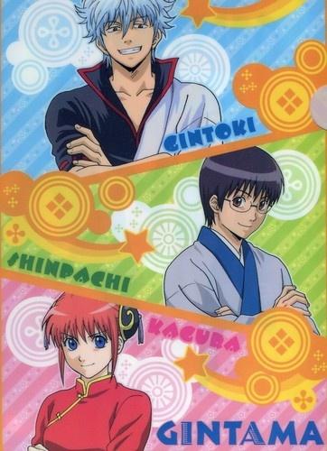 Gintama clear file folder official Japan Sakata Gintoki , Shimura Shinpachi , Kagura , Okita Sougo , Hijikata Toushirou