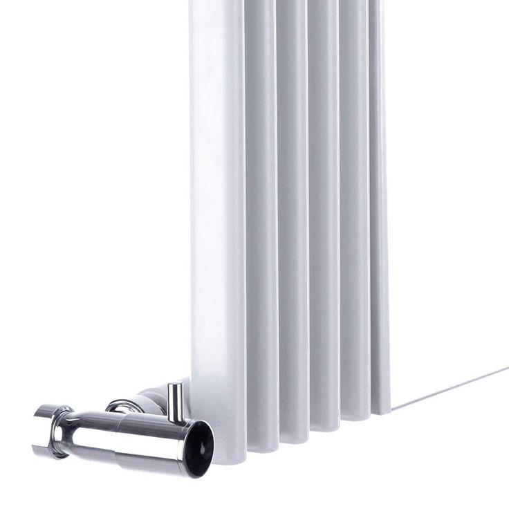 Design Heizkörper Vertikal Weiß mit Spiegel 935 Watt 1600mm x 420mm Keida  - Image 3