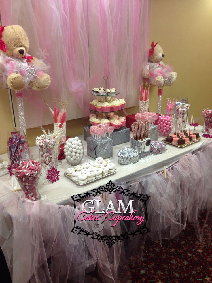 Winter Wonderland Dessert Candy Table Glam Cakes