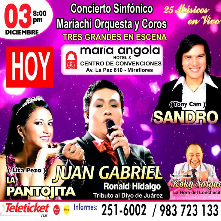 Concierto Sinfónico este 3 de Diciembre en el Centro de Convenciones MARIA ANGOLA !!!!!!!!!!!!!!!!