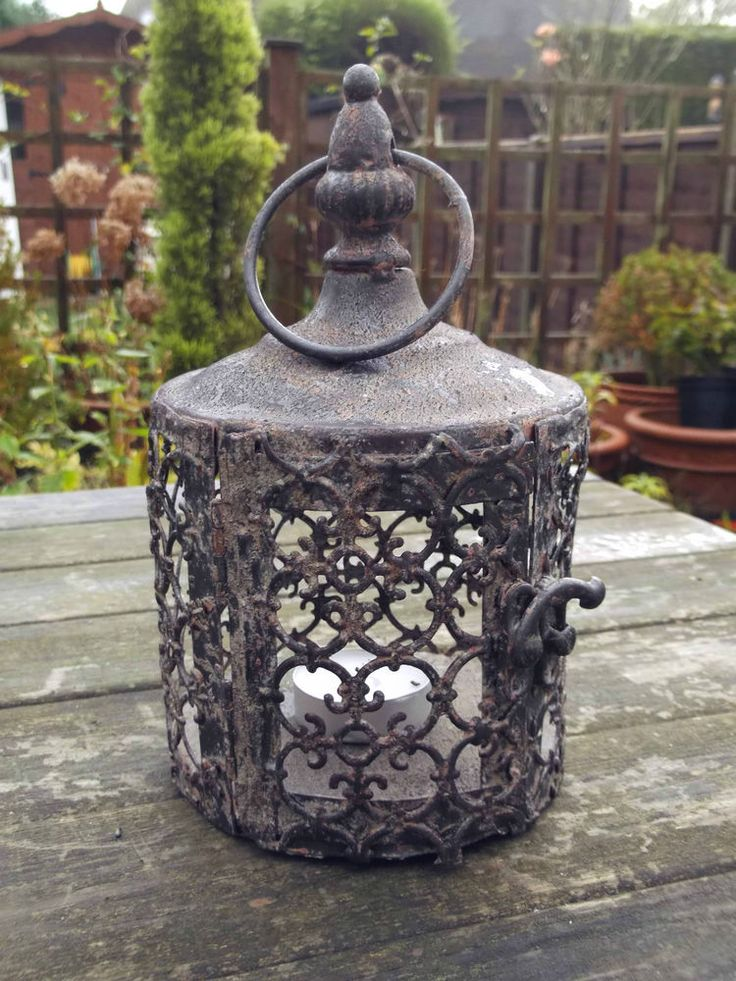 Small Antique Vintage Style Moroccan Lantern Candle Holder Tea Light Holder
