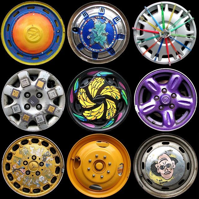 colorful hub caps