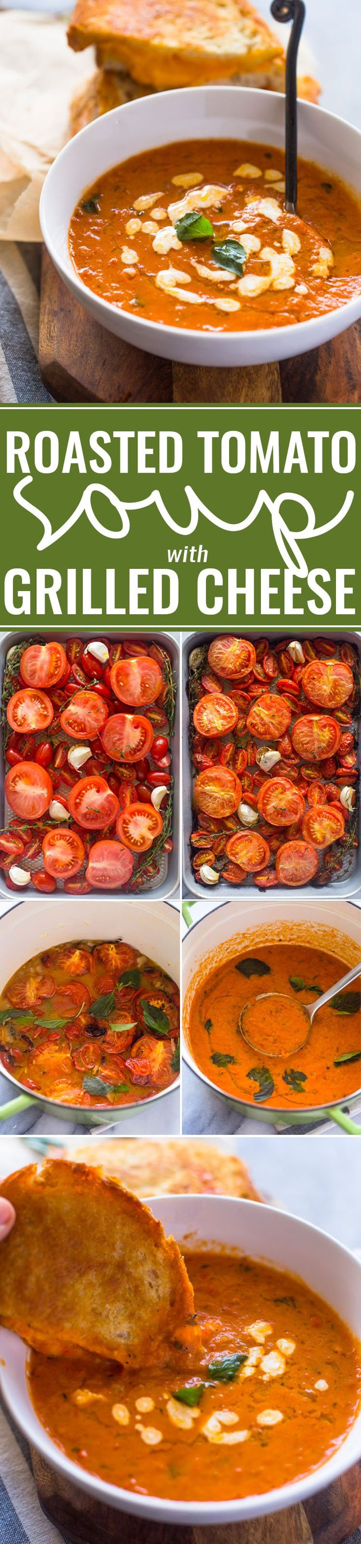 Easy Roasted Tomato Basil Soup More