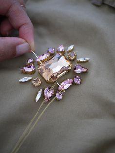 DIY Swarovski Crystal Trenchcoat