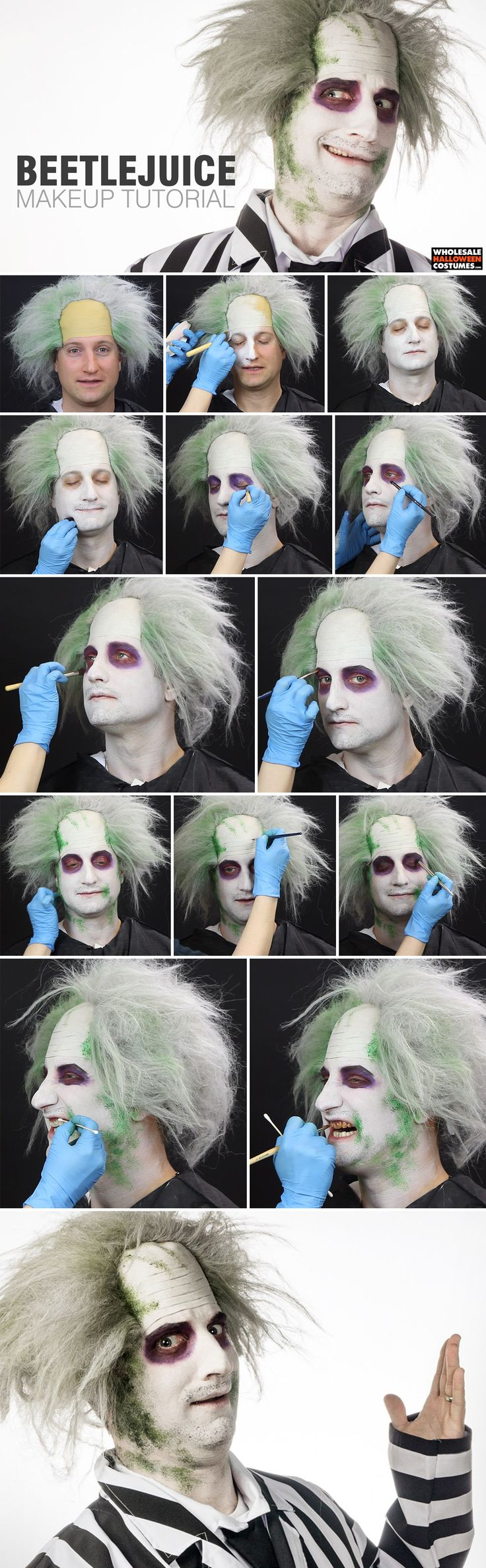 Beetlejuice Makeup Tutorial