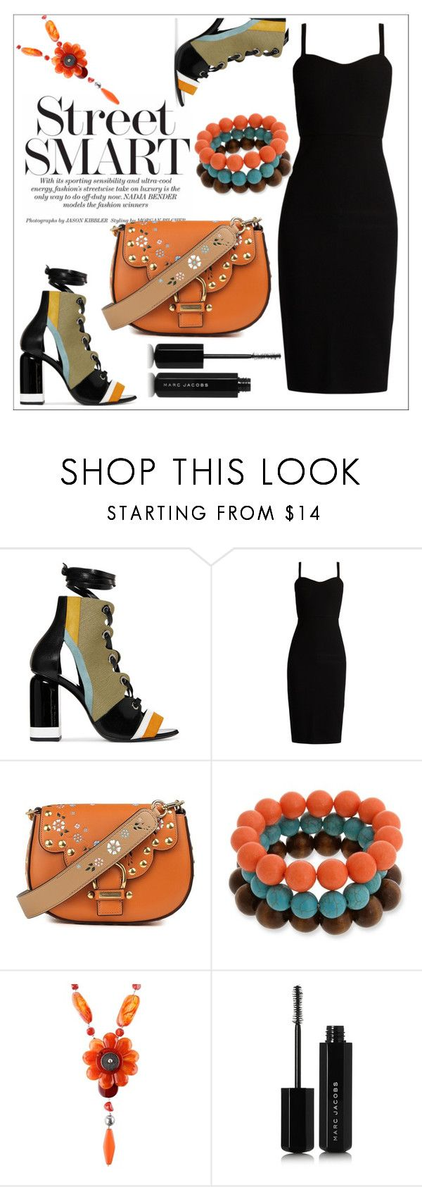 Untitled #703 by chanlee-luv on Polyvore featuring MaxMara, Pierre Hardy, Marc Jacobs, Erica Lyons and Marina Fossati