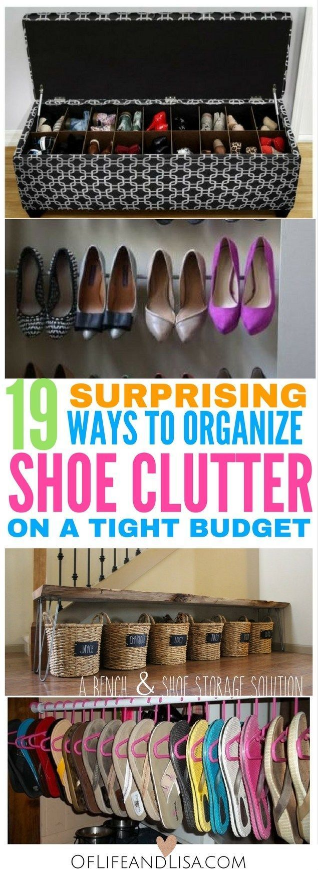Get inspired to organize your shoes with these brilliant shoe storage ideas!