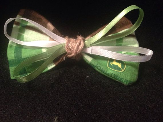 Specialty John Deere BOW hair accessories or for pet on Etsy, $8.00 CAD
