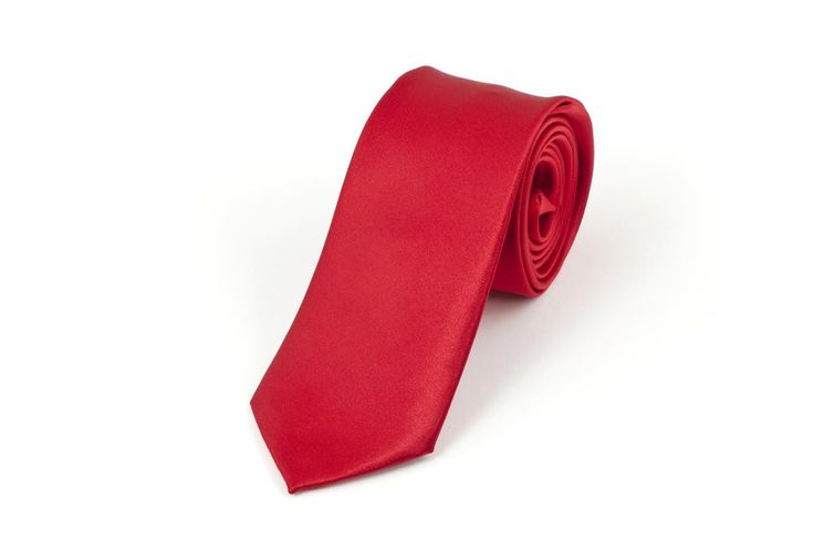 Satin Red Necktie