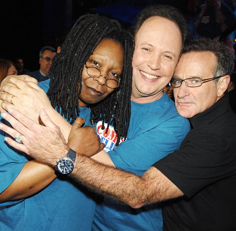 Whoopi Goldberg, Billy Crystal and Robin Williams in 2006