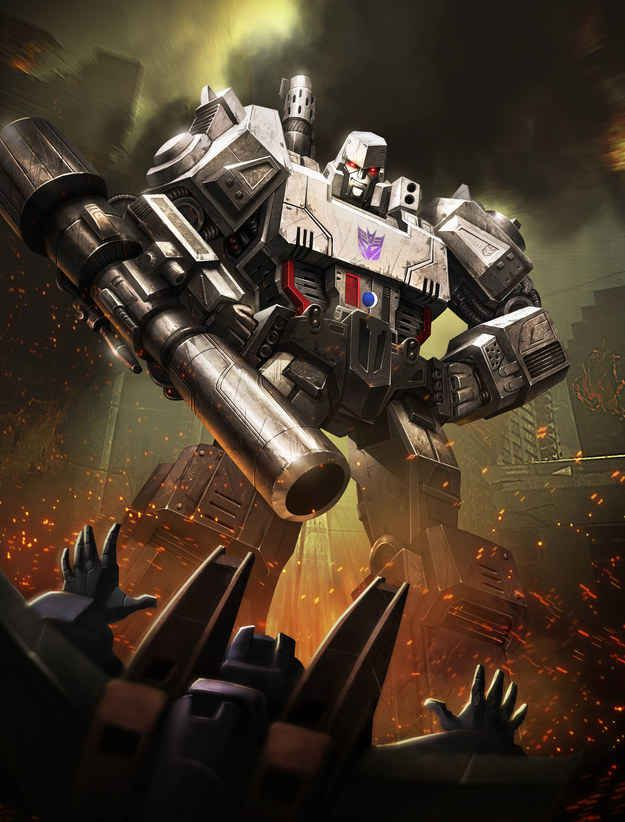 Megatron: *sigh* why do I have a feeling that the bot in the left corner is Starscream?<<AND I JUST REALIZED. IT IS. THAT IS STARSCREAM (he's got the strange tall vent things on either side of his head, and despite the light, I'm pretty sure the bot's hands are blue...)