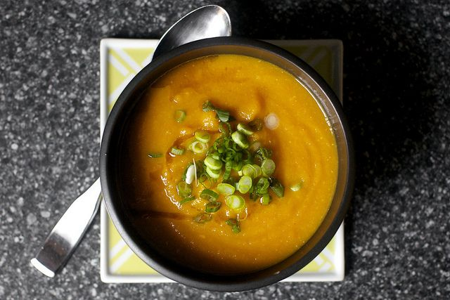 carrot soup with miso and sesame by smitten kitchen, via Flickr- can't wait to make this!