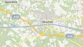 de kaart van Oirschot