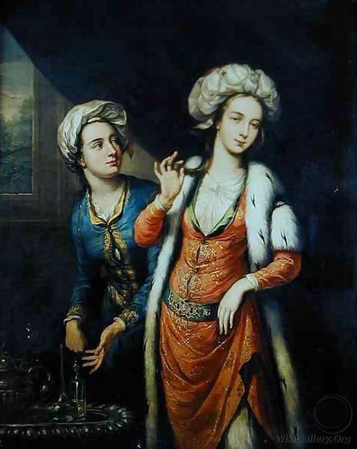 Lady Mary Wortley Montagu (1689-1762) (unknown date); George Knapton (1698–1778, English)