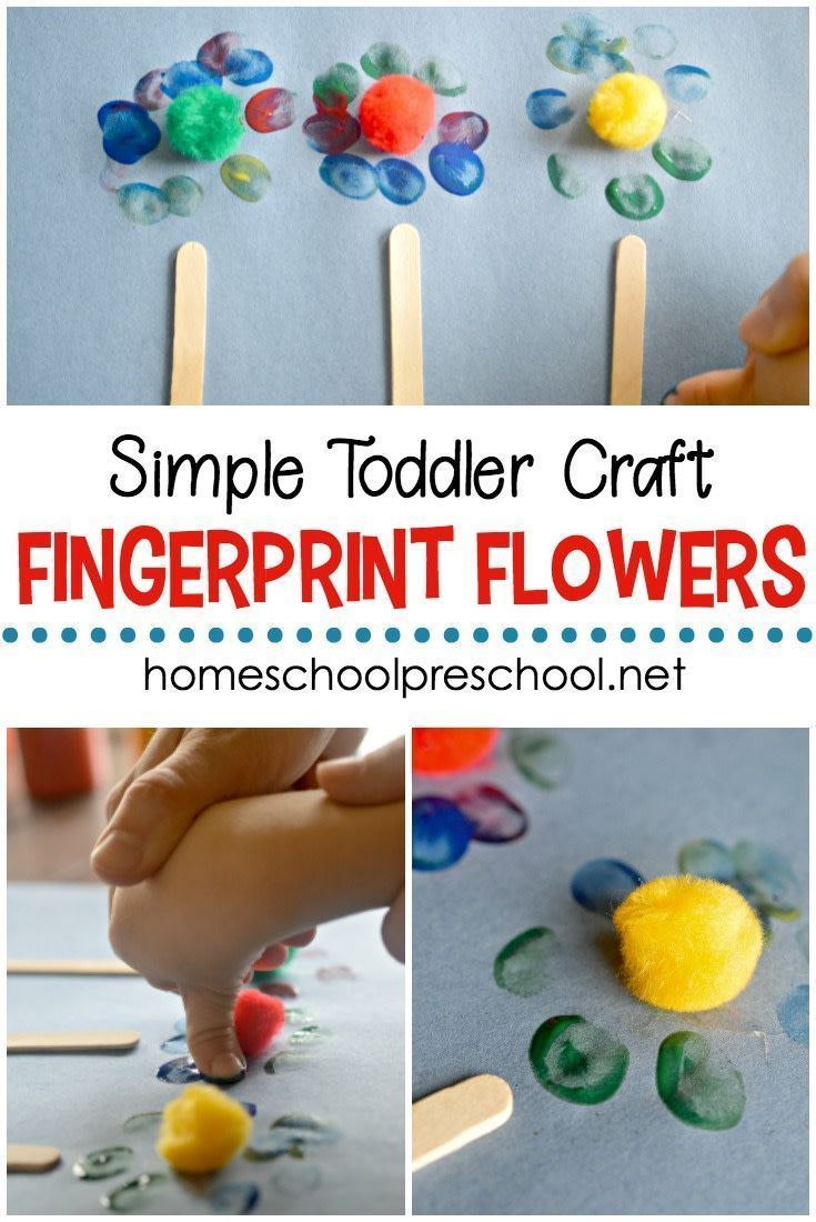 Easy Fingerprint Flowers Art Project For Preschoolers Baby To