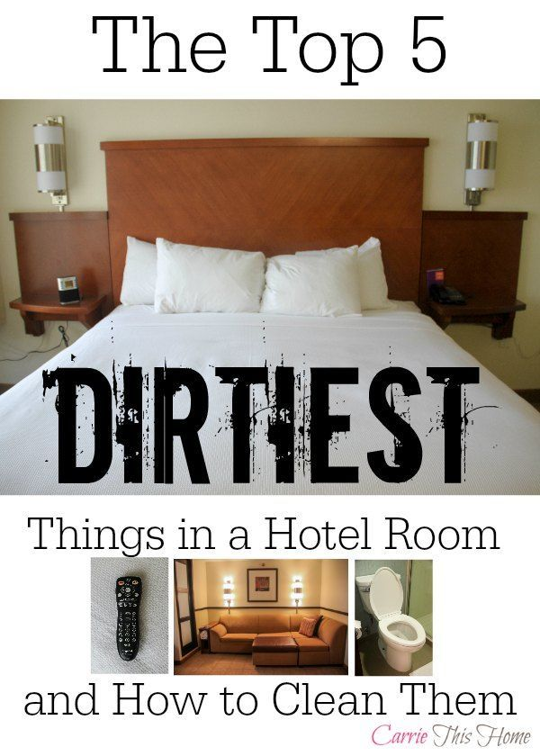 This is a must-read before your next hotel stay! Find out what the dirtiest things are and how to clean them fast! How To Sanitize a Hotel Room in 5 Minutes