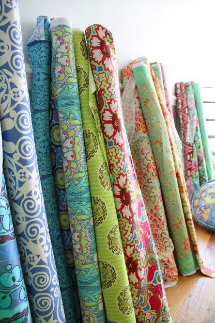 Amy Butler, love her fabric. Bright, fresh and fun: Ideas, Pattern, Beautiful Fabrics, Butler Fabrics, Quilting, Butler Designs, Fabrics Amy Butler, Amy Butler Fabric