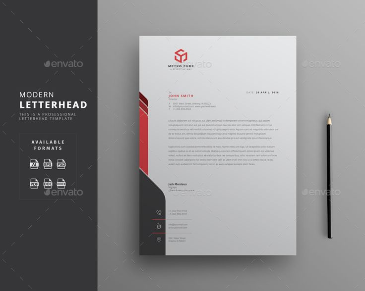 Corporate Letterhead Template with super modern and Corporate look. Corporate Letterhead page designs are very easy to use and customize, so you can quickly tailor-make your letterhead for ...