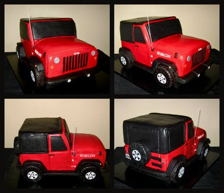 Jeep Cake  Cake by CuteologyCakes...if only i could make one that good
