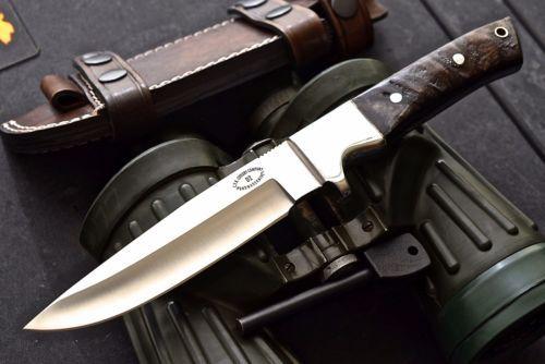 CFK-Custom-Handmade-D2-Bushcraft-Hunting-Skinning-SHEEP-HORN-Knife-Fire-Starter