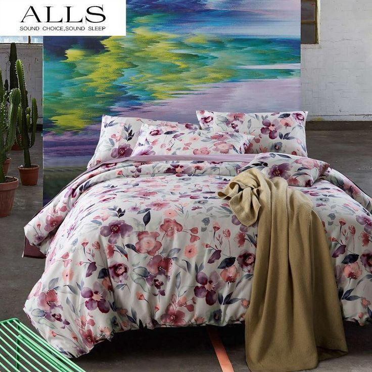 100% Cotton Bedding Set Chinese Painting Style Floral Duvet Cover Light Purple Violet Bed Linen Couvre Lit Douillette Enfant Duvet Set Sale Comforter Sets Cheap From Weng250, $246.52| Dhgate.Com