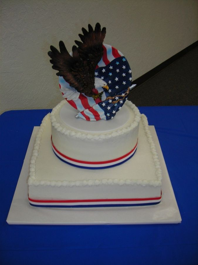 BC, purchased topper, ribbon border.  Made for my son's Eagle Scout Celebration.  I wanted it to be a simple stress-free cake and with ...