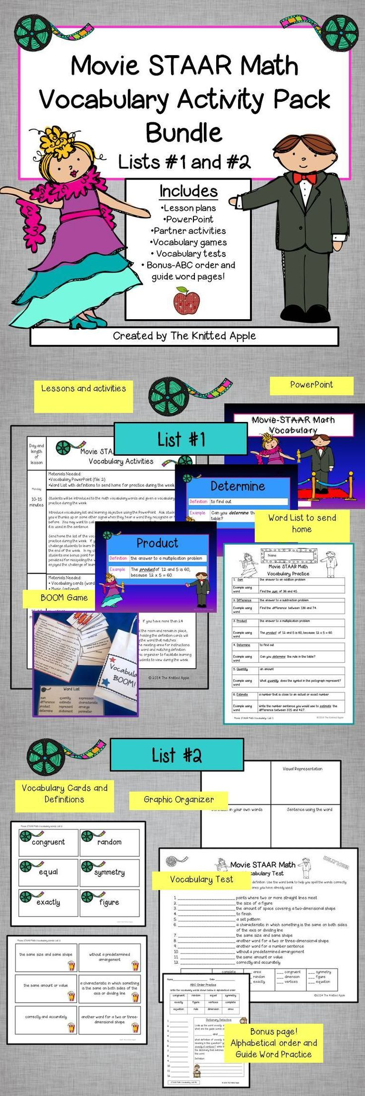 Vocabulary practice for 24 key STAAR Math vocabulary words ...
