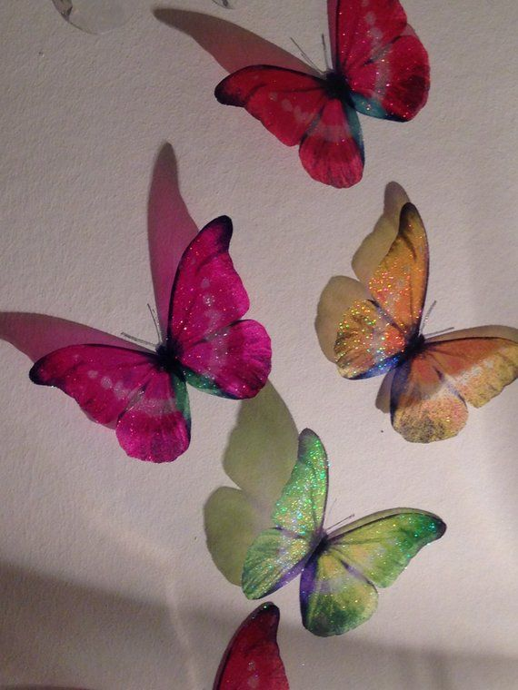 12 MIXED Butterfly Wall Stickers Car Decal Removable  *Any Colour* Baby Nursery