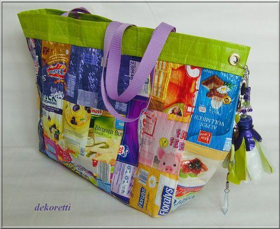 dekoretti´s Welt: Die 2. Plastiktüten-Upcycling Tasche ...