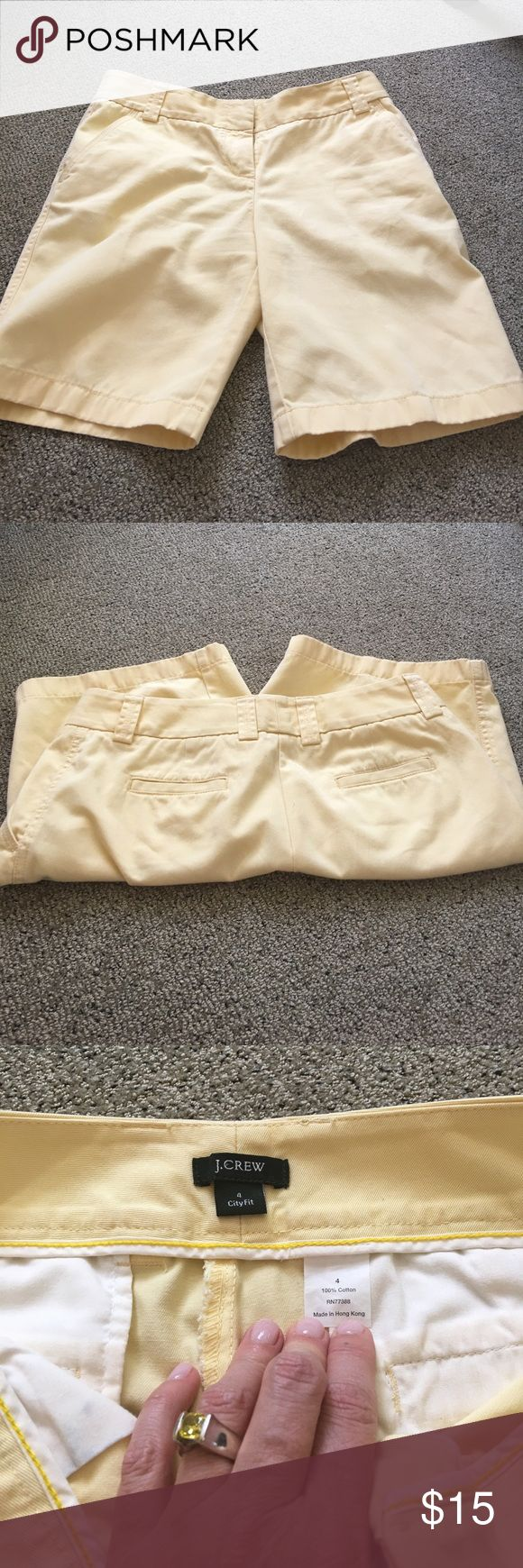 J crew City fit shorts Gorgeous canary yellow shorts by J Crew. 17 inches long and 16 inches across. Lovely and beach perfect! J. Crew Shorts Bermudas