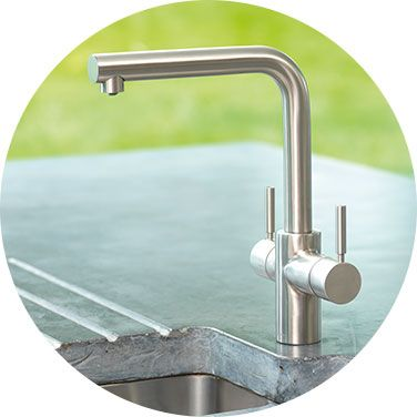 Insinkerator Instant Boiling Hot Water Tap, 3N1 In Brushed Steel. Hot Water,  Fresh