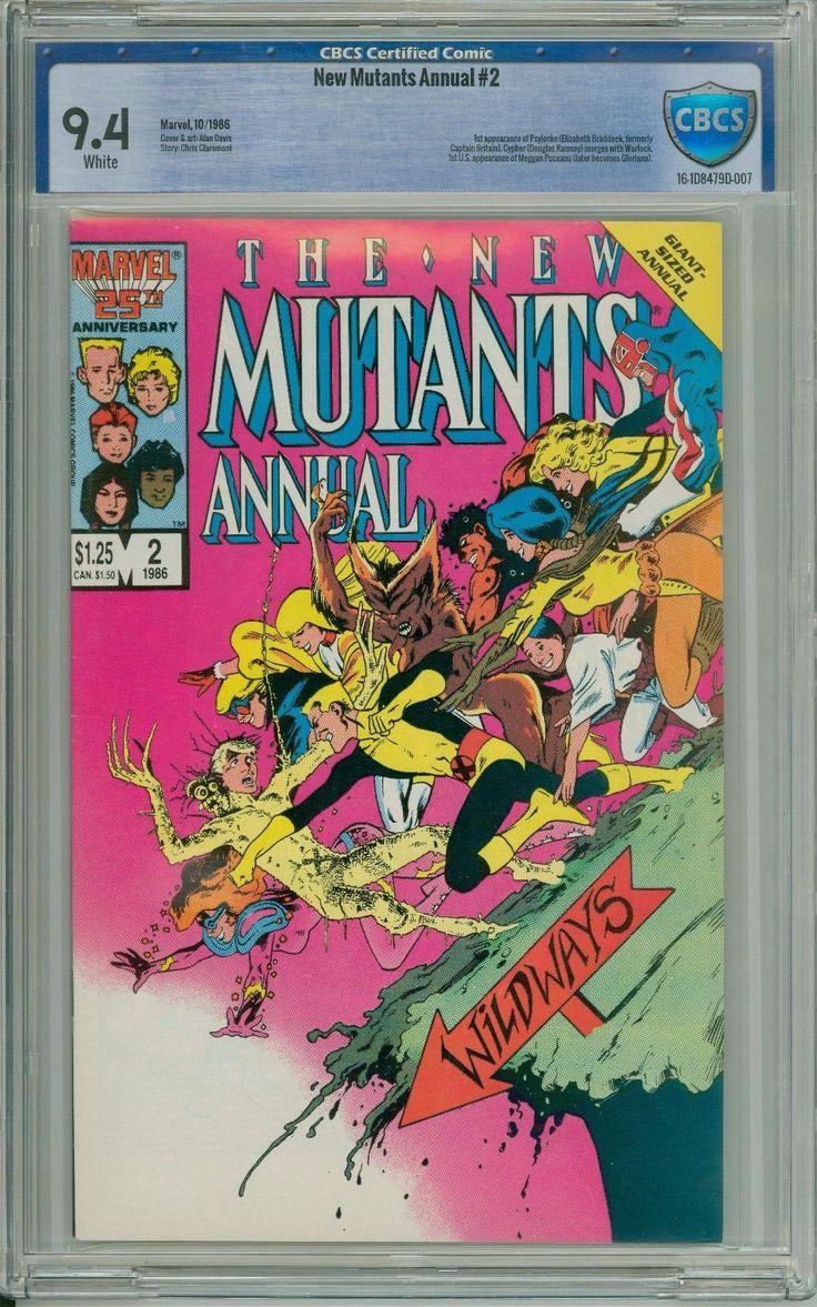 Marvel - New Mutants Annual #2 - 1st Psylocke (Elizabeth Braddock) - CBCS 9.4