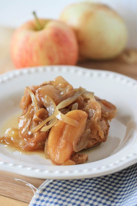 pork chops and apples crockpot recipe - sans the spicy mustard!  Had a couple weeks ago - sooo good! I add a total of probably 3tbs of brown sugar :)