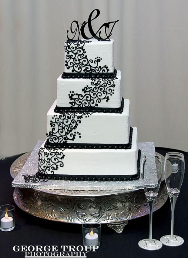 black and white square wedding cake with red roses best 25 square wedding cakes ideas on silver 11841