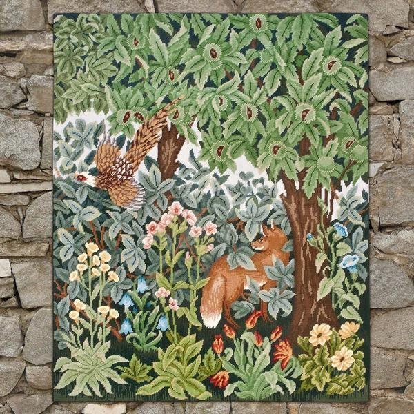 Greenery Fox and Pheasant