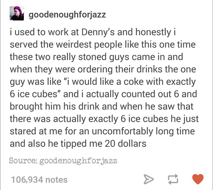 working at denny's