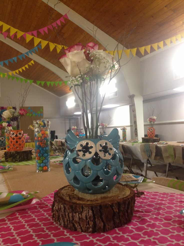 Owl Balloon Centerpiece Ideas : Ideas about owl centerpieces on pinterest baby