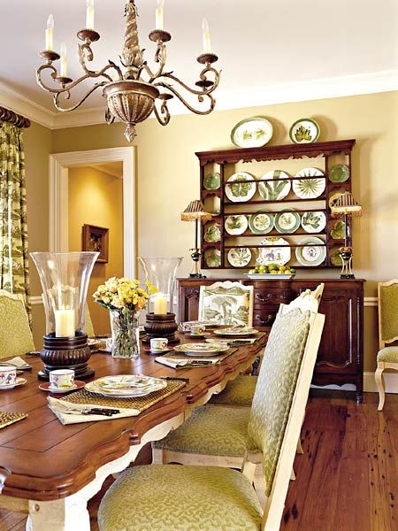 I Was Thinking Of Painting My Tired Old Cherry Dinning Room Set. Painting  Just The. French Country Dining ...