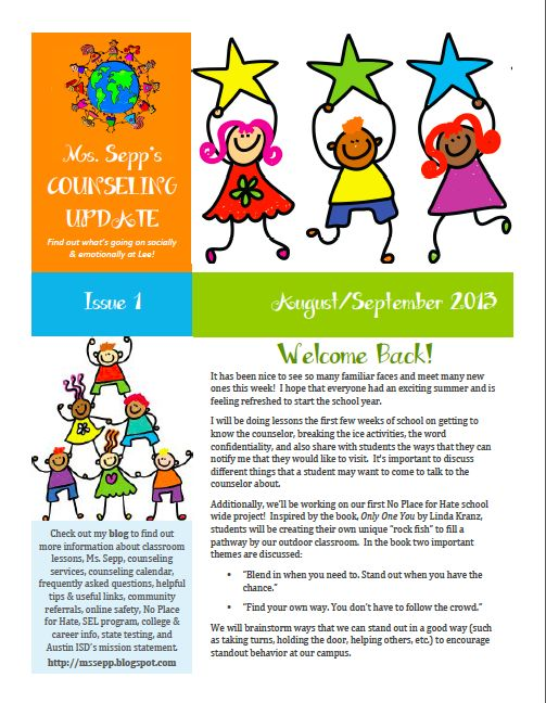 21 best Parent newsletters images on Pinterest Parent newsletter - fresh 7 counseling confidentiality statement