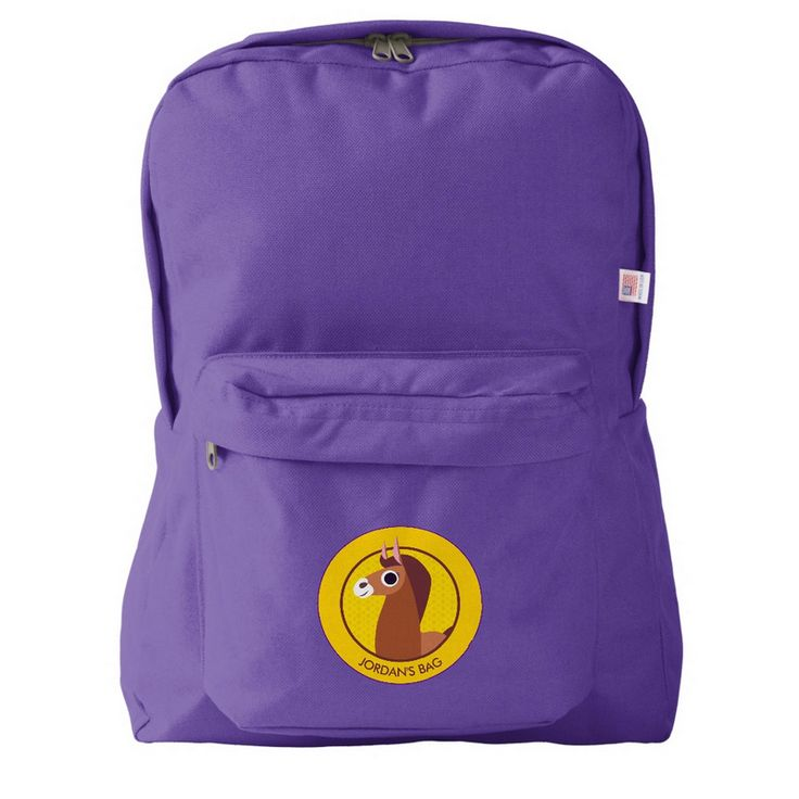New backpacks & carry-alls on the Zazzle #PeekabooBarn store: bring Zora the Horse to school!