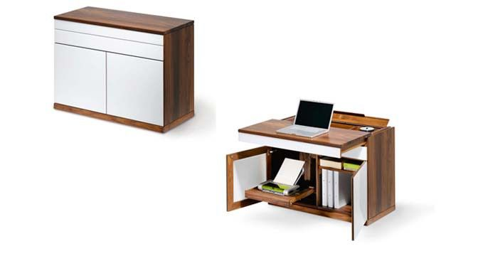 Desk or sideboard Closed, the cubus writing desk looks just like