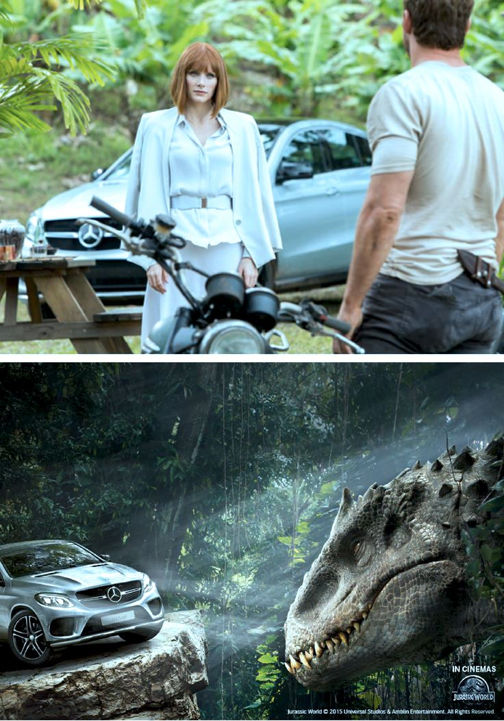 On-screen, multiple Mercedes-Benz vehicles are once again in on the Jurassic action—especially the all-new GLE Coupé, which appears in its series-look for the first time.
