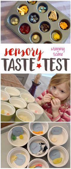 Setting up a food taste test is a fun way to teach a preschooler about the sense of taste from the 5 senses!