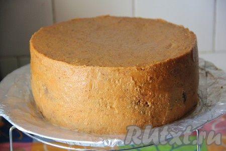 Масляный крем под мастику и выравнивание торта для работы с мастикой