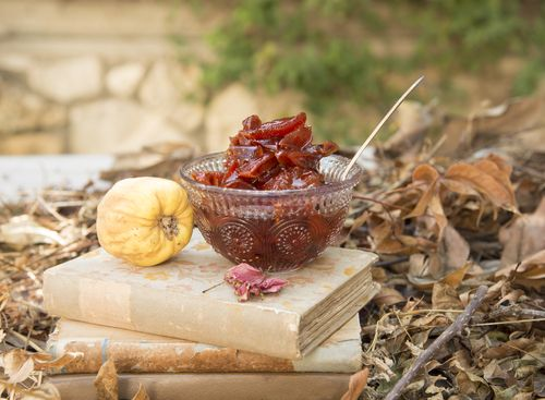 Lebanese Quince Jam, a sweet holiday winter recipe {Middle Eastern recipes}