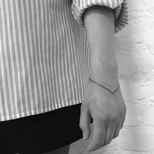 usually not into the super minimalist tattoos, but i like this one