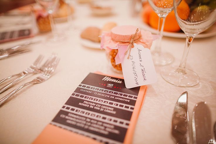 Movie Themed Menu & Favors Photo by www.photochic.ro