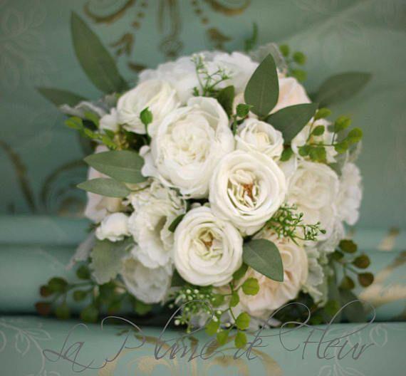 Wedding bouquet, eucalyptus bouquet, rose and peony bouquet, silk bouquet, bridal bouquet, wedding flowers, rustic bouquet, garden wedding